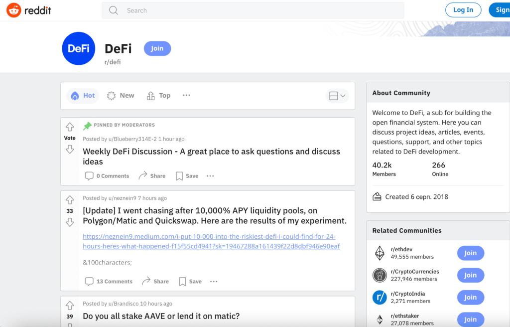 defi marketing on reddit