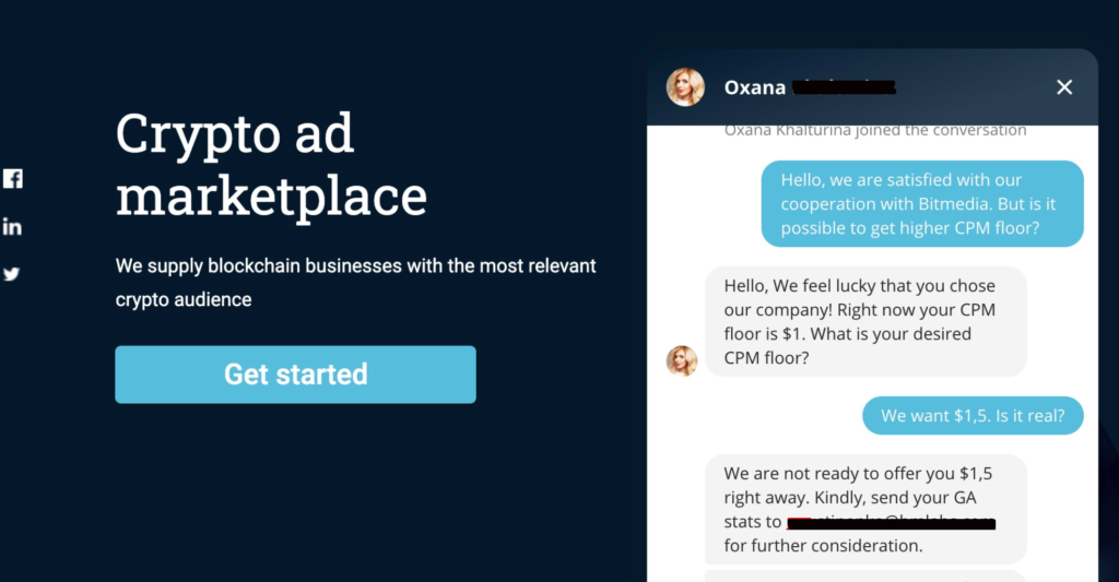 Implement a live chat with your customers