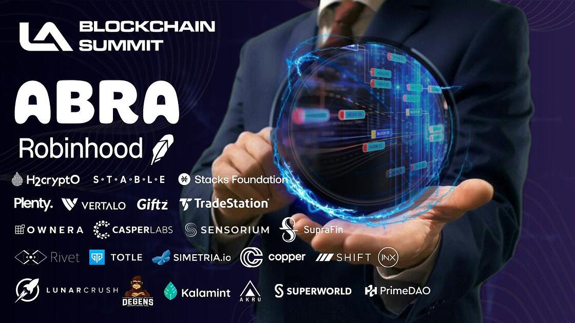 Robinhood, Abra and Other Industry Heavyweights Gearing Up for LA Blockchain Summit in November